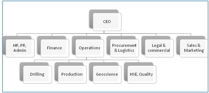Organization Chart E&P Company