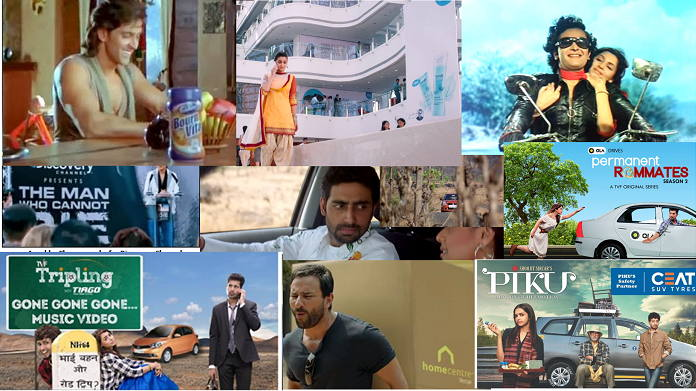 Product Placements in Bollywood movies
